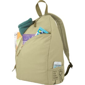 Trash Talking Recycled Sling Backpack for Customization