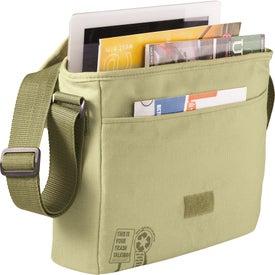 Trash Talking Recycled Tablet Messenger Bag for Customization