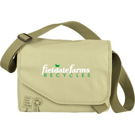 Imprinted Trash Talking Recycled Tablet Messenger Bag