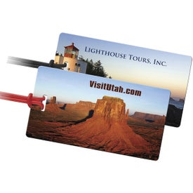 Clear Traveler Slip in ID Luggage Tag