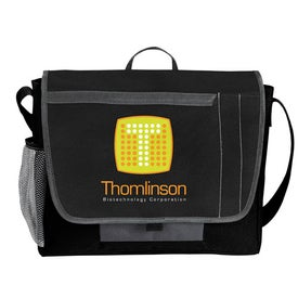 Tri-Pocket Flap Messenger with Your Logo