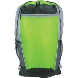 Tri-Color Drawstring Backpack for Your Organization