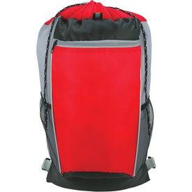 Monogrammed Tri-Color Drawstring Backpack