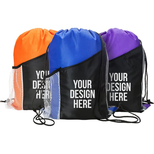 64a45d5e142a Custom Drawstring Bags   Backpacks