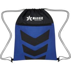 Two-Tone Arrow Drawstring Bag