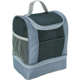 Imprinted Two-Tone Insulated Lunch Bag