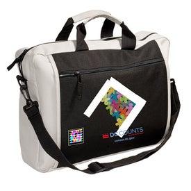 Printed Two-Tone Messenger Bag