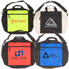 Two-Tone Messenger Bag Printed with Your Logo
