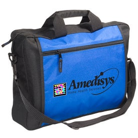 Personalized Two-Tone Messenger Bag