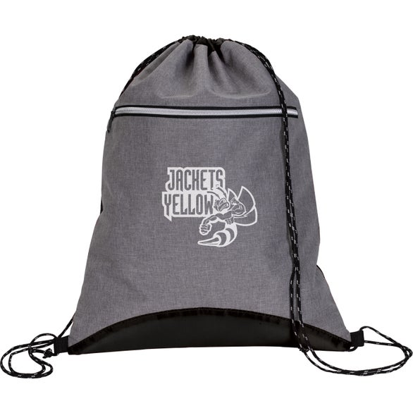 Charcoal / Black Two-Tone Sport Drawstring Backpack