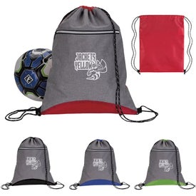 Two-Tone Sport Drawstring Backpacks