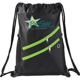 Two Zipper Deluxe Drawstring Sports Pack