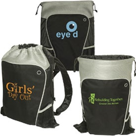 Personalized Hiker's Two-Tone Drawstring Backpack