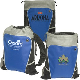 Branded Hiker's Two-Tone Drawstring Backpack