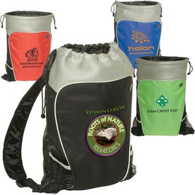 Hiker's Two-Tone Drawstring Backpack for Your Church