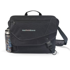 Urban Edge Computer Messenger Bag for Advertising