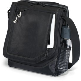 Imprinted Vapor Vertical Computer Messenger Bag
