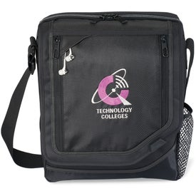 Vapor Vertical Computer Messenger Bag with Your Slogan
