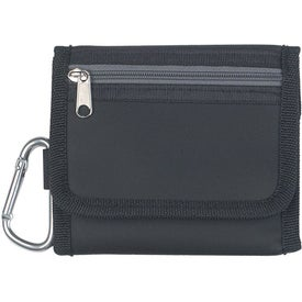 """Advertising Velcro Wallet With 2"""" Carabiner"""