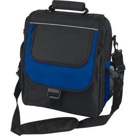 Imprinted Vertical Design Computer Bag