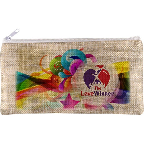 Beige Vibrant Accessory Pouch