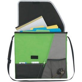 Personalized Vida Non-Woven Messenger Bag