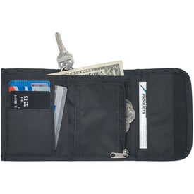 Branded Wallet With Split Ring