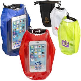 Water-Resistant Dry Bag with Mobile Pocket