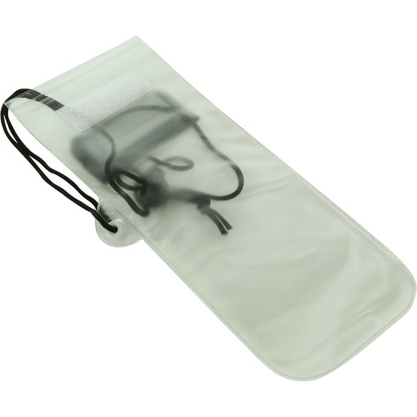 Clear / Black Waterproof Phone Pouch with Cord