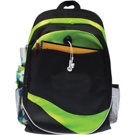 Imprinted Wave Back Pack