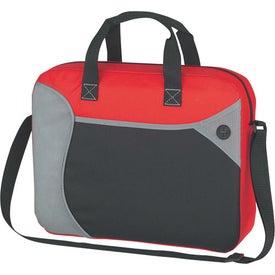 Imprinted Wave Briefcase/Messenger Bag