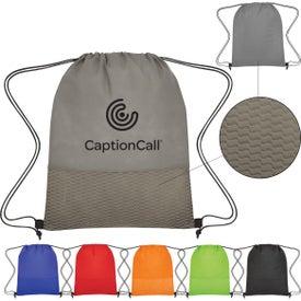 Wave Design Non-Woven Drawstring Bag