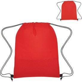 Wave Design Non-Woven Drawstring Bags