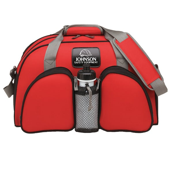 Red Polyester Weekender Duffel Bag