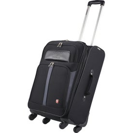 "Personalized Wenger 4-Wheel Spinner 24"" Upright Luggage"