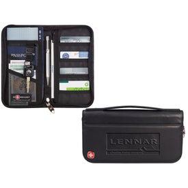 Custom Wenger Leather Travel Wallet