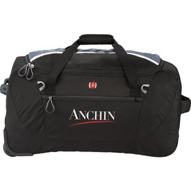 """Wenger Shield 24"""" Rolling Duffel Printed with Your Logo"""