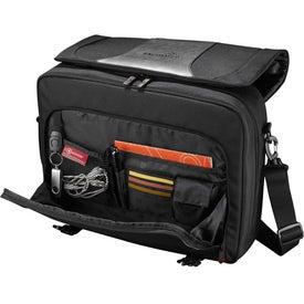 Monogrammed Wenger Transit Compu-Messenger Bag