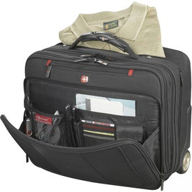 Wenger Transit Deluxe Wheeled Compu-Case Imprinted with Your Logo