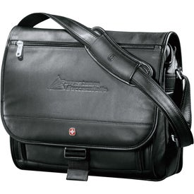 Wenger Executive Leather Compu-Saddle Bag