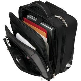 Monogrammed Wheeled Ferraro Carry On With Compu Sleeve