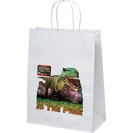 White Kraft Jenny Shopper Bag (Full Color)