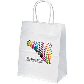 White Kraft Mini Shopping Bags