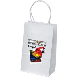 White Kraft Pup Shopping Bag