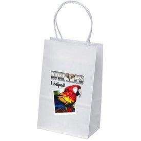 White Kraft Pup Shopping Bag