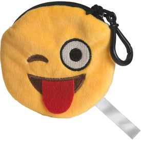 Wink Wink Emoji Plush Pouch