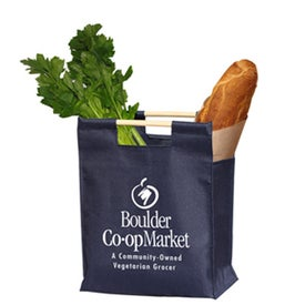 Advertising Wood Handle Shopper Bag
