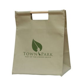 Branded Wood Handle Shopper Bag