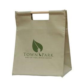 Branded Wood Handle Shopper Bag