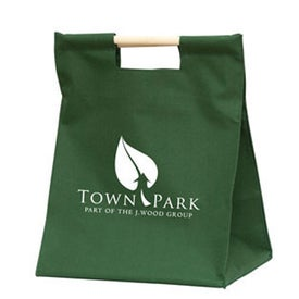 Wood Handle Shopper Bag
